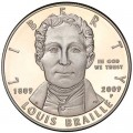 Dollar 2009 Louis Braille Silber, Proof