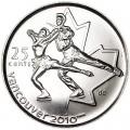 25 центов 2008 Канада Олимпиада 2010 Ванкувер: Фигурное катание