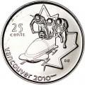 25 центов 2008 Канада Олимпиада 2010 Ванкувер: Бобслей