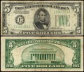 Banknote 5 Dollar 1934 USA (E - Richmond), VF-VG