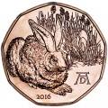 5 евро 2016 Австрия, Заяц