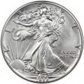 1 доллар 1988 США Шагающая Свобода, серебро UNC