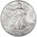 1 доллар 2001 США Шагающая Свобода, серебро UNC