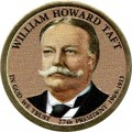 1 dollar 2013 USA, 27th President William Taft, colored