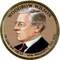 1 dollar 2013 USA, 28th President Woodrow Wilson, colored