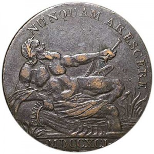 1/2 penny 1799 United Kingdom, token. Glasgow