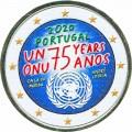 2 евро 2020 Португалия, 75 лет ООН (цветная)