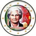 2 евро 2020 Италия, Мария Монтессори (цветная)