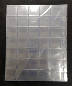 Package with 5 sheets. Sheets for coins, for 35 coins, size OPTIMA, cell 35x35 mm. SOMS