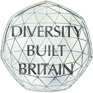 50 pence 2020 United Kingdom, British Diversity
