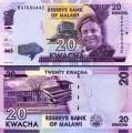 20 kwacha 2016 Malawi, banknote, XF