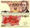 100 zlotys 1988 Poland, banknote XF