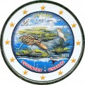 2 евро 2021 Литва, Заповедник Жувинтас (цветная)