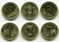 5 forint set 2021 Hungary 75th forint (6 coins)