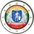 2 евро 2021 Литва, Дзукия (цветная)