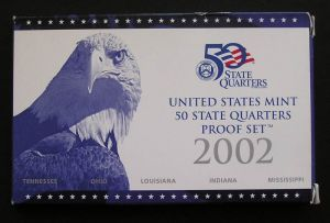 setzen 25 Cent 2002 USA PP Nickel, Minze S