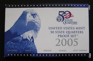 setzen 25 Cent 2005 USA PP Nickel, Minze S