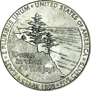 5 cents 2005 USA Ocean in View, Westward Journey Series, mint mark P