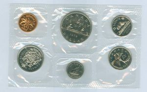 Annual Canadian coin set 1972 (6 coins)