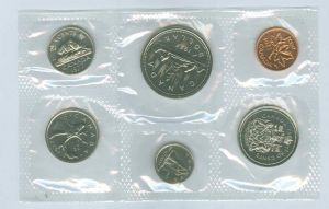 Annual Canadian coin set 1977 (6 coins)