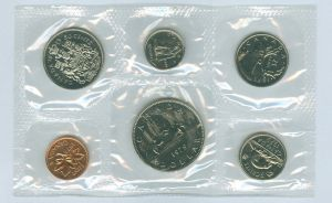 Annual Canadian coin set 1979 (6 coins)