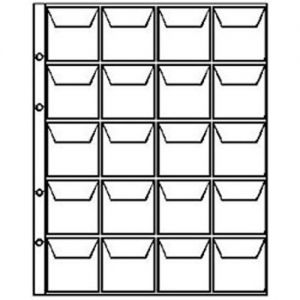 Sheet for coins. for 20 coins, size OPTIMA, cell 45x45 mm. Russia