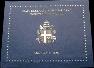 Euro coin set Vatican 2002, first year of issue