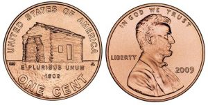 1 cent 2009 USA Cabin, Birth and Early chilhood of Lincoln, mint mark P