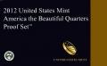 Набор 25 центов 2012 США Национальные парки (1 пластина) пруф, двор S, никель