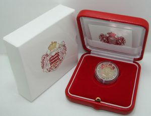 2 euro 2010 Monaco Albert II, coin in the box, proof