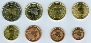 Euro coin set Estonia 2011 (8 coins)