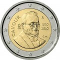 2 euro 2010 Italy 200th anniversary of the Count of Cavour's birth