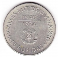 10 mark 1974 Germany 25 years German Democratic Republic