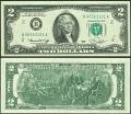 2 доллара 1976 США (B - Нью-Йорк), банкнота, хорошее качество XF
