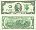 2 доллара 1995 США (F), банкнота, хорошее качество XF