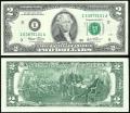 2 доллара 2003 США (I), банкнота, хорошее качество XF