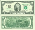 2 доллара 2009 США (B), банкнота, хорошее качество XF