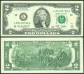 2 доллара 2009 США (L), банкнота, хорошее качество XF