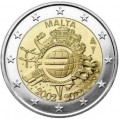 2 euro 2012 10 years of Euro, Malta