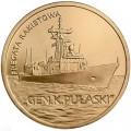 2 злотых 2013 Польша Ракетный фрегат Генерал К. Пуласки (Fregata rakietowa Gen Pulaski)
