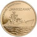 2 злотых 2013 Польша Ракетный эсминец Варшава (Niszczyciel rakietowy Warszawa)