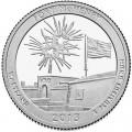 Quarter Dollar 2013 USA Ft McHenry 19th National Park, mint mark D