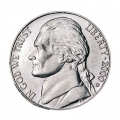 Nickel five cents 2000 US, mint D