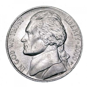 5 cents (Nickel) 2000 USA, mint P