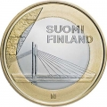 5 euros 2012 Finland, Lapland, the Bridge Candle rafters