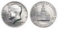Half Dollar 1976 USA Independence hall mint mark D, from circulation