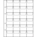 Sheet for coins, for 24 coins, size OPTIMA, cell 45x40mm