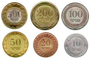 A set of coins 2003-2004 Armenia 6 coins