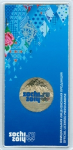 25 rubles 2011 SPMD Emblem Sochi, Colorized (blue blister)