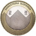 3 euro 2011 Slovenia 20th anniversary of Slovenia's independence